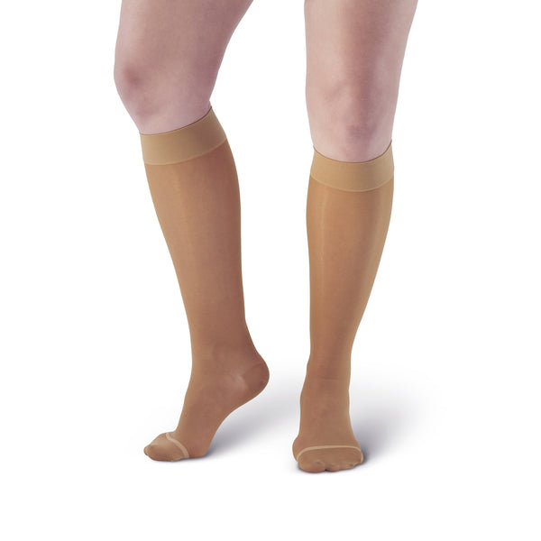 AW Style 18 / 43 Sheer Support Closed Toe Knee Highs - 20-30 mmHg - Beige
