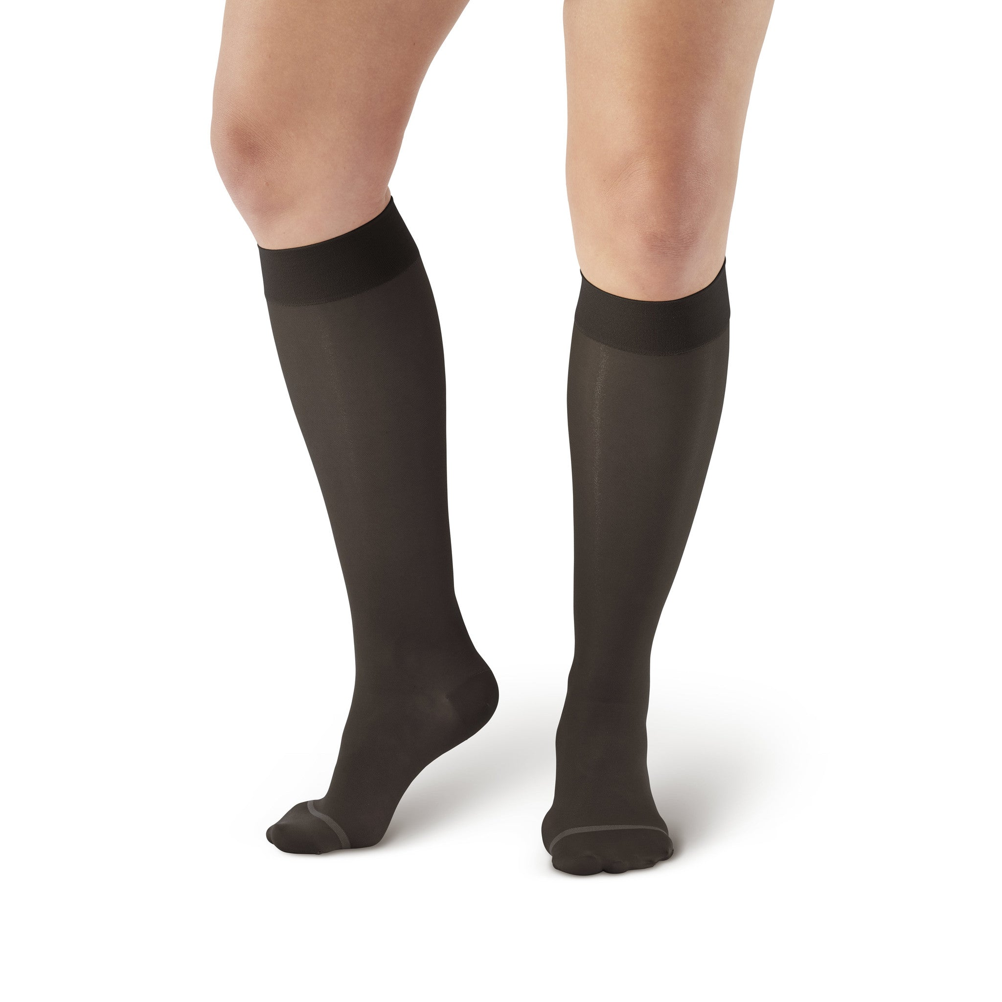f8b90c3a6 ... AW Style 16 Sheer Support Closed Toe Knee Highs - 15-20 mmHg - Black ...