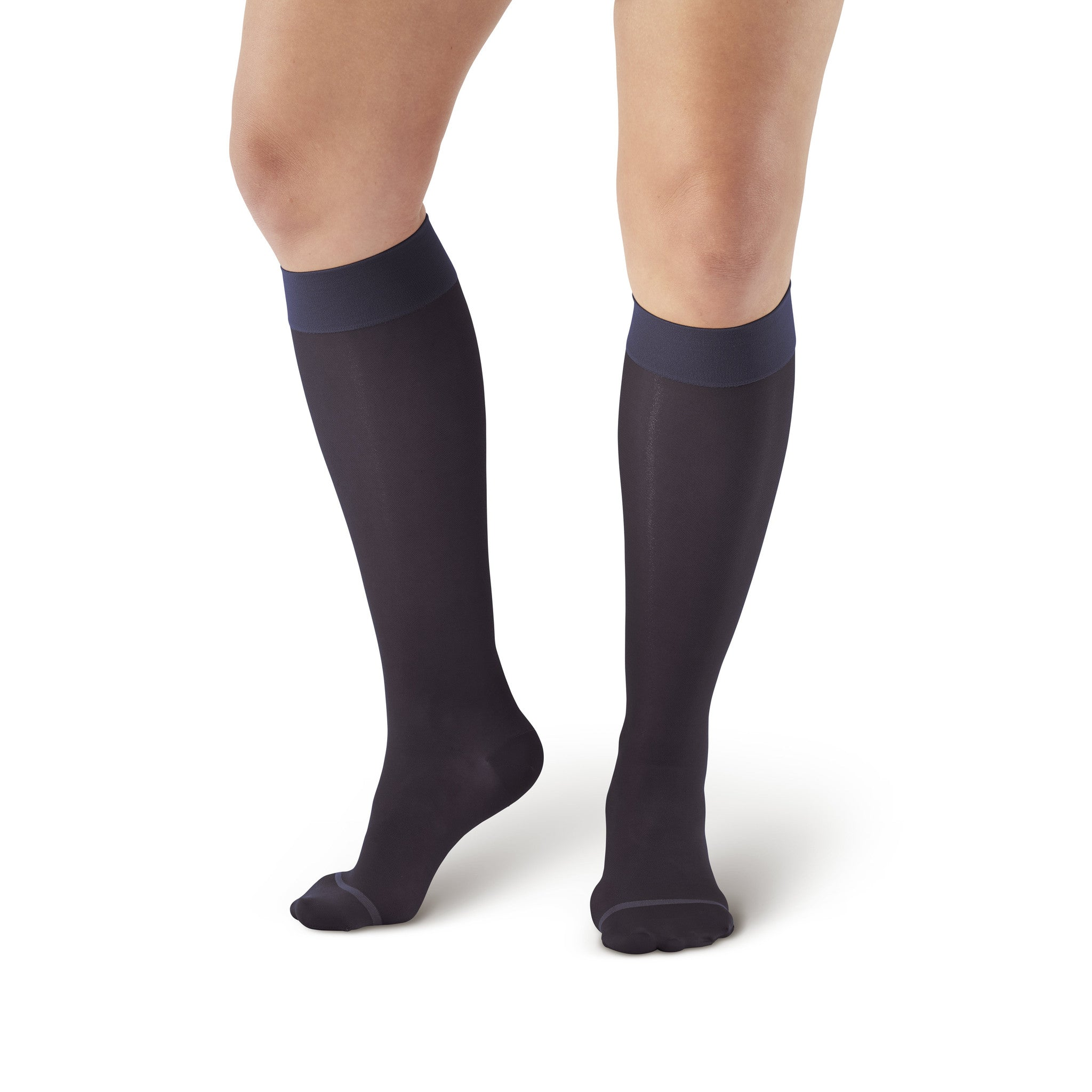 2ed6f16cac8 ... AW Style 16 Sheer Support Closed Toe Knee Highs - 15-20 mmHg - Navy ...
