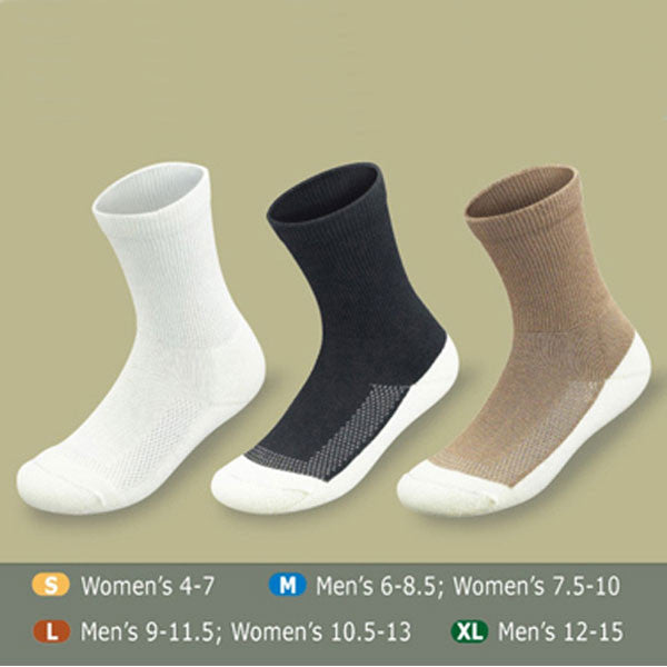 Orthofeet BioSoft Diabetic Socks w/ Padded Sole - 3 Pack