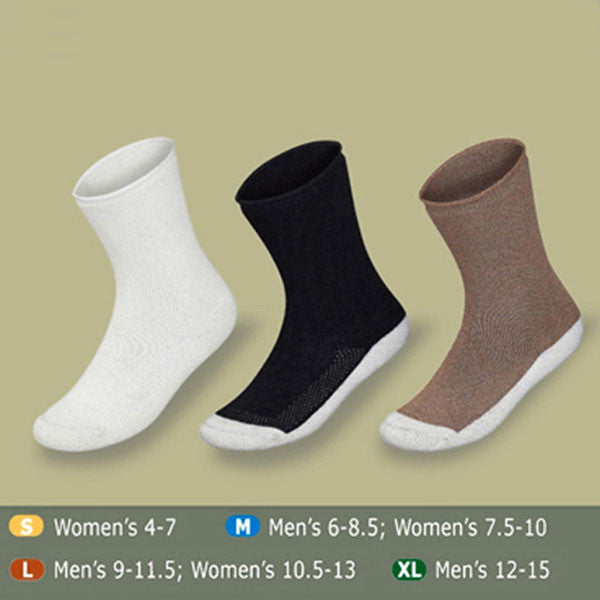 Orthofeet BioSoft Extra Roomy Diabetic Socks w/ Padded Sole - 3 Pack