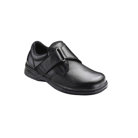 Orthofeet Men's Broadway Leather Shoes - Black