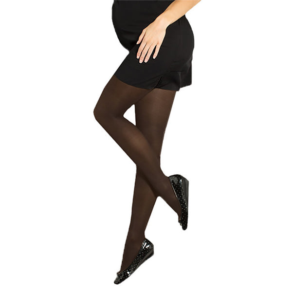 Preggers by Therafirm Maternity Tights - 15-20 mmHg - Black