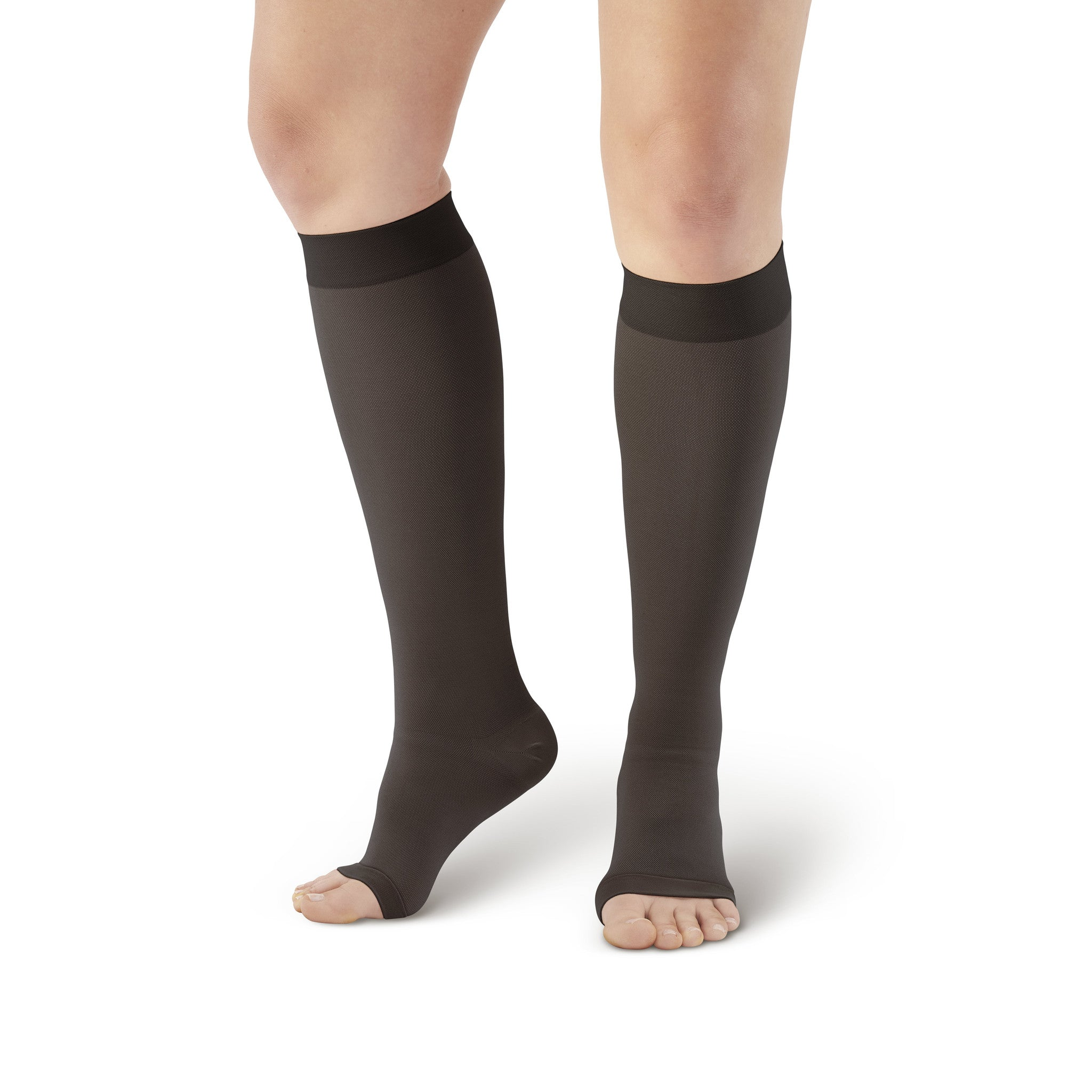 a912c5b32 ... AW Style 201 Medical Support Open Toe Knee Highs - 20-30 mmHg - Black  ...