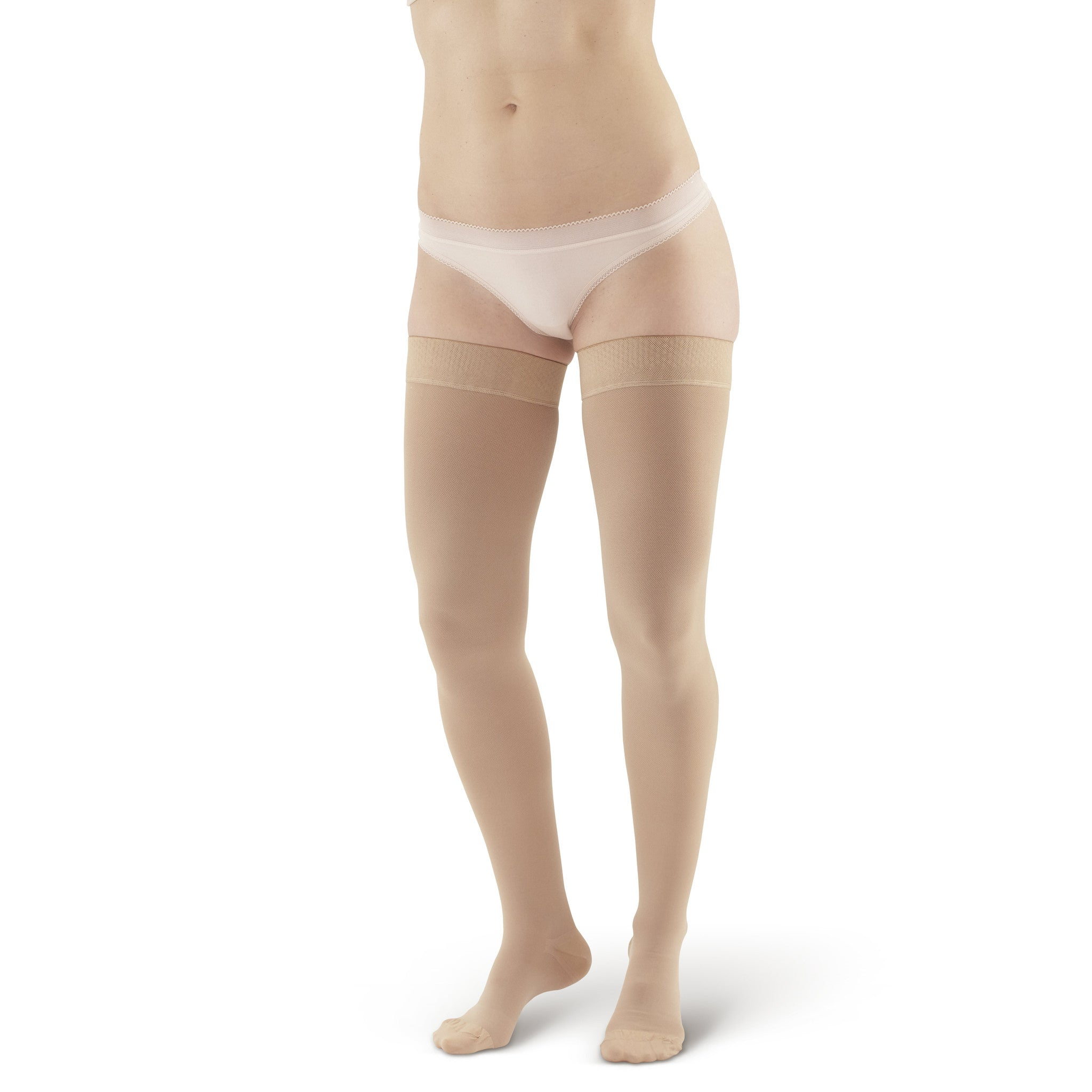 5c7480be118 AW Style 205 Medical Support Closed Toe Thigh Highs w Sili Dot Band - 20 ...