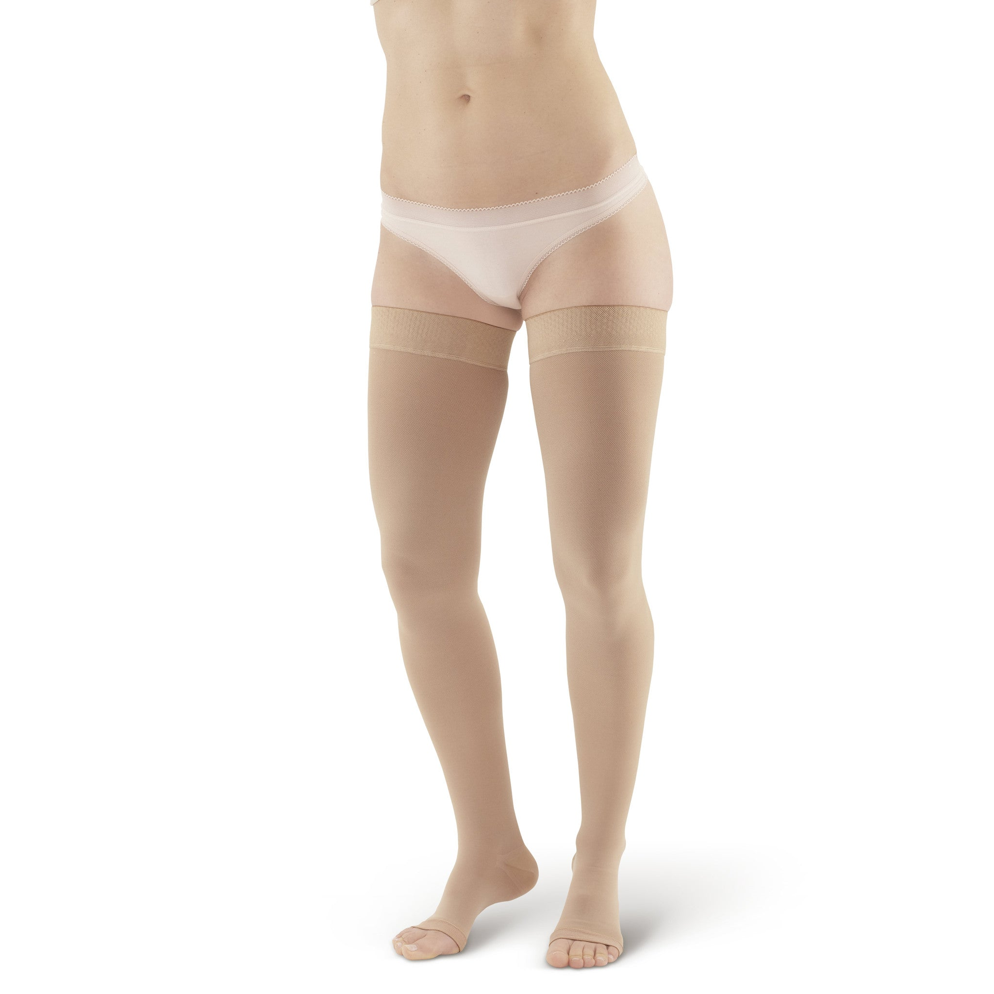 832947326 AW Style 212 Medical Support Open Toe Thigh Highs w  Sili Dot Band - 20 ...