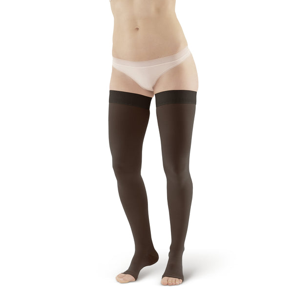 44ce8afc3 AW Style 212 Medical Support Open Toe Thigh Highs w  Sili Dot Band - 2 –  Ames Walker
