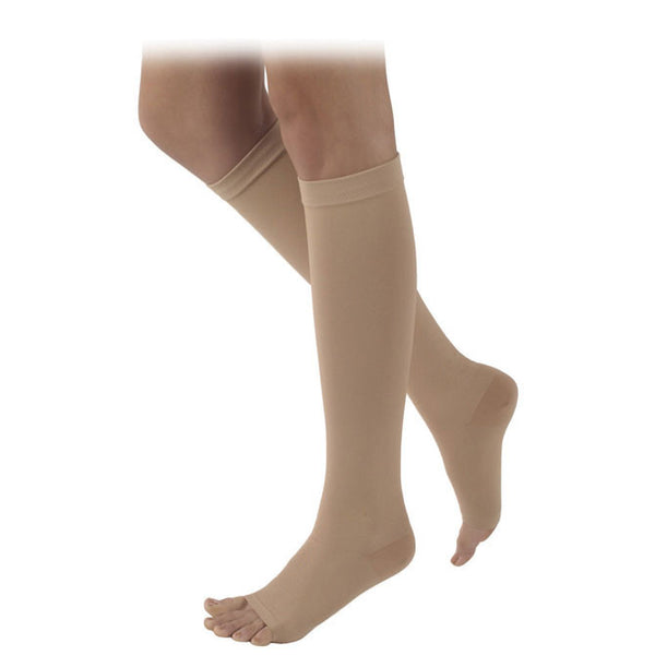 Sigvaris 504 Rubber Series Open Toe Knee Highs - 40-50 mmHg