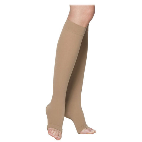 Sigvaris 232 Men's & Women's  Cotton Open Toe Knee Highs- 20-30 mmHg