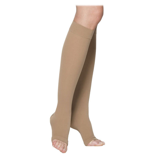 Sigvaris 233 Men's & Women's Cotton Open Toe Knee Highs- 30-40 mmHg