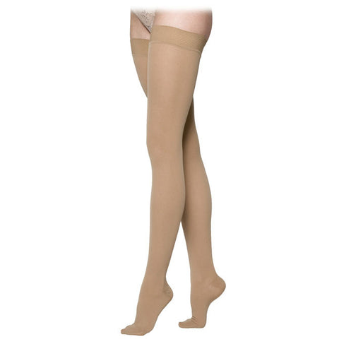 Sigvaris 232 Cotton Open Toe Thigh Highs w/Grip Top - 20-30 mmHg
