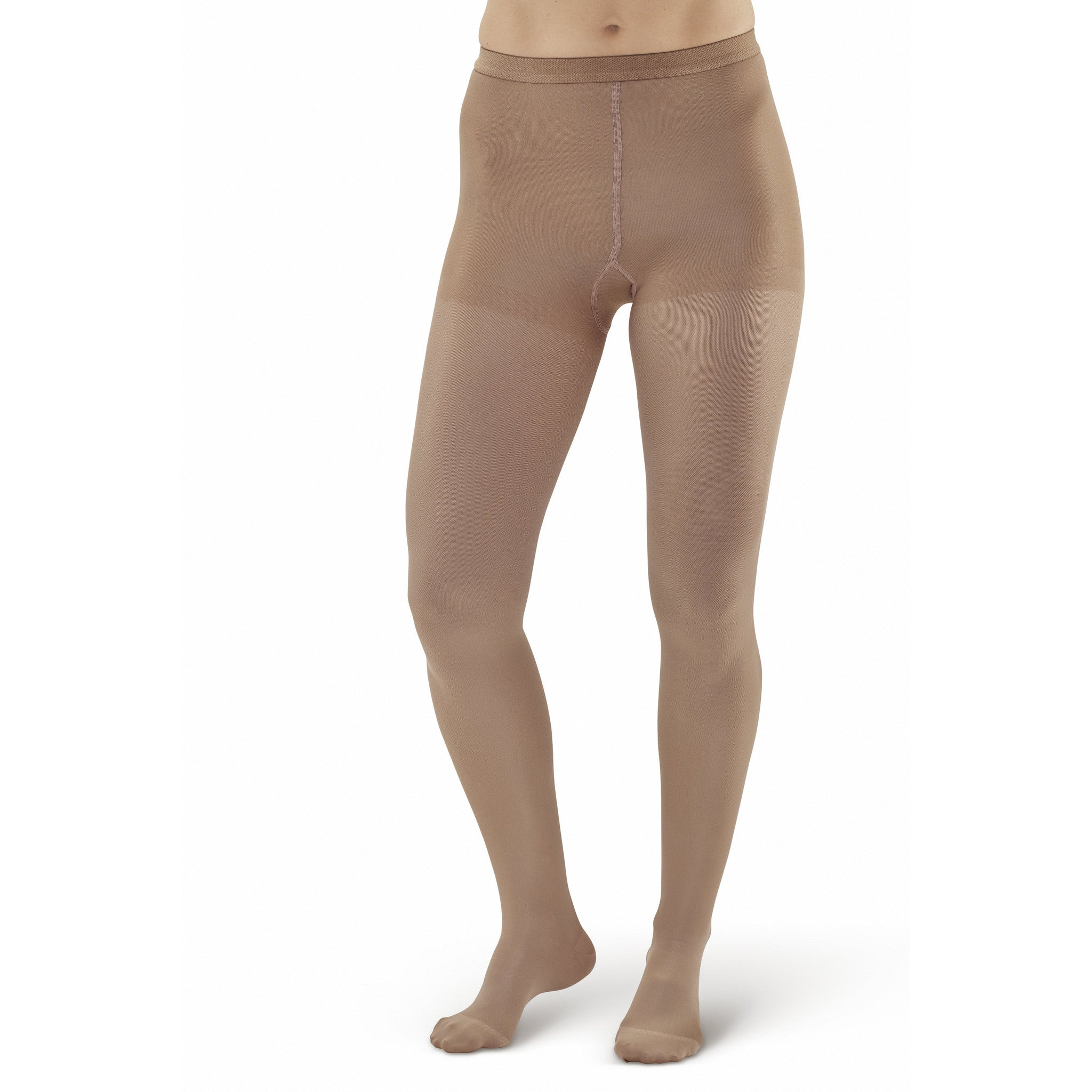 aaa23995e8 AW Style 208 Microfiber Opaque Closed Toe Pantyhose/Tights 15-20 mmHg - Sand  ...