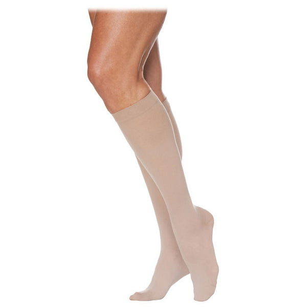 Sigvaris 783 EverSheer Closed Toe Knee Highs - 30-40 mmHg - Natural