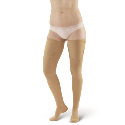 AW Style 220 Anti-Embolism Closed Toe Thigh High Stockings - 18 mmHg