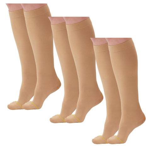 AW Style 222 Anti-Embolism Closed Toe Knee High Stockings - 18 mmHg (3 Pack)
