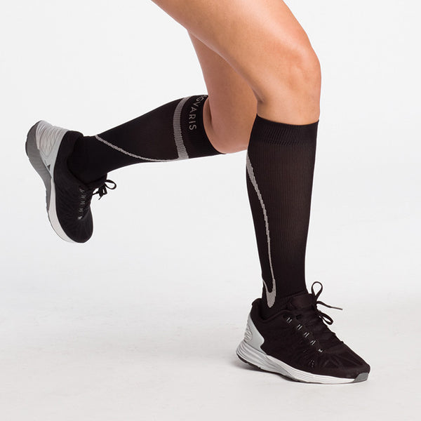 Sigvaris 412 Traverse Knee High Socks - 20-30 mmHg - Black