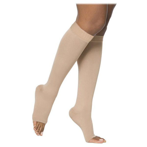 Sigvaris 863 Select Comfort Open Toe Knee Highs w/Grip Top - 30-40 mmHg