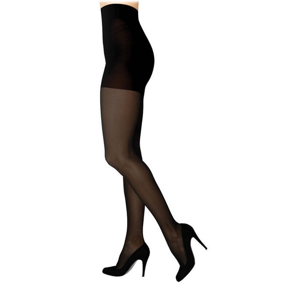 Sigvaris 842 Soft Opaque Closed Toe Pantyhose - 20-30 mmHg - Black