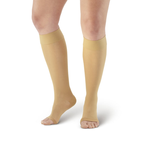 AW Style 230 Signature Sheers Open Toe Knee Highs - 20-30 mmHg