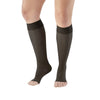 AW Style 235OT Signature Sheers Open Toe Knee Highs - 15-20 mmHg - Black