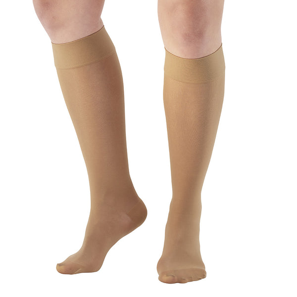 LISH Plain Jane Wide Calf Firm Extra Compression Socks Graduated 20-30 mmHg Knee High Plus Size Support Stockings