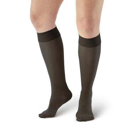 AW Style 235 Signature Sheers Closed Toe Knee Highs - 15-20 mmHg (SALE) Small Black