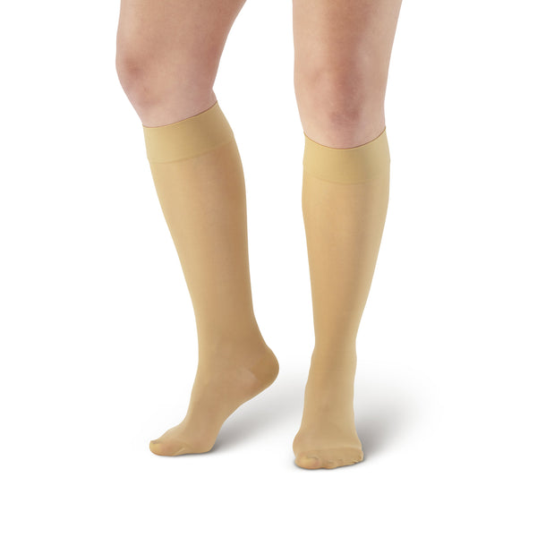 AW Style 380 Signature Sheers Closed Toe Knee Highs - 30-40 mmHg - Beige