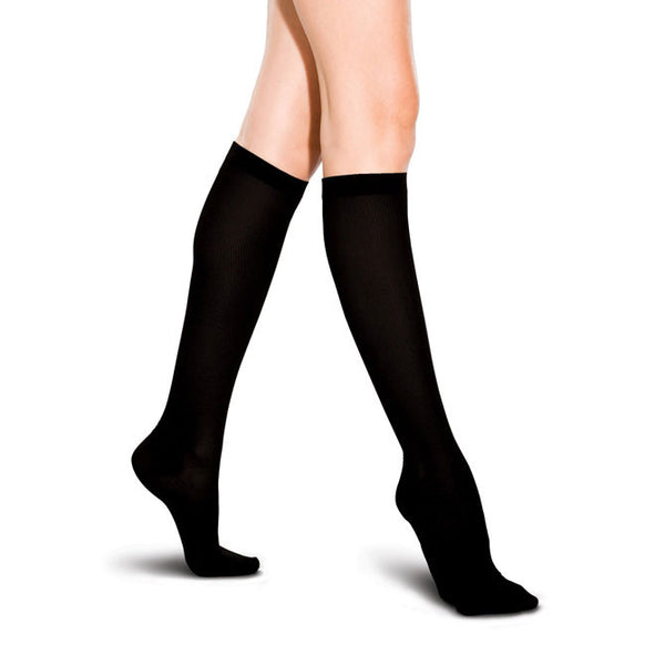 Therafirm Light Support Women's Knee High Diamond Pattern Socks - 10-15 mmHg