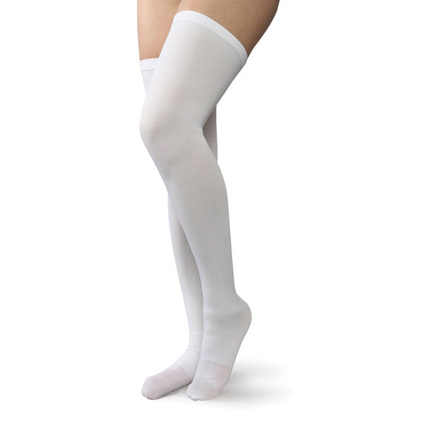 Therafirm Men's and Women's Anti-Embolism Cld Toe Thigh-High Stockings -18 mmHg