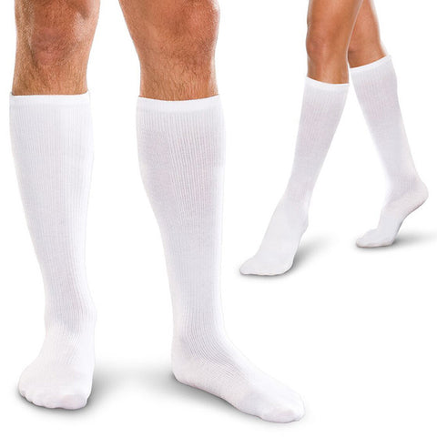 Therafirm Core-Spun Firm Support Men's and Women's Knee High Socks - 20-30 mmHg