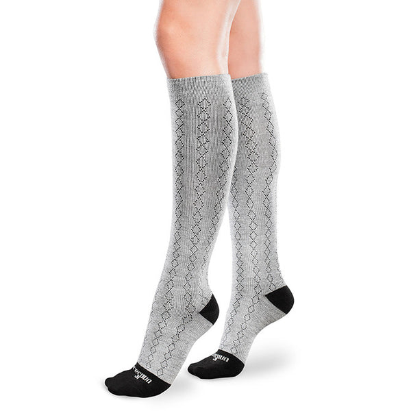 Therafirm Core-Spun Mild Support Socks  - Classic Diamond 15-20 mmHg