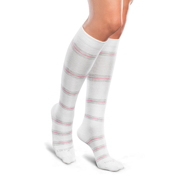 Therafirm Core-Spun Moderate Support Socks- Thin Line 20-30 mmHg
