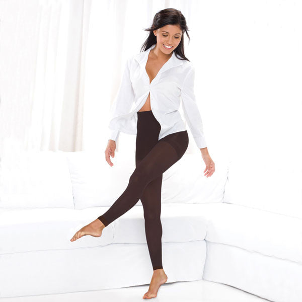 Therafirm Footless Tights - 10-15 mmHg - Cocoa