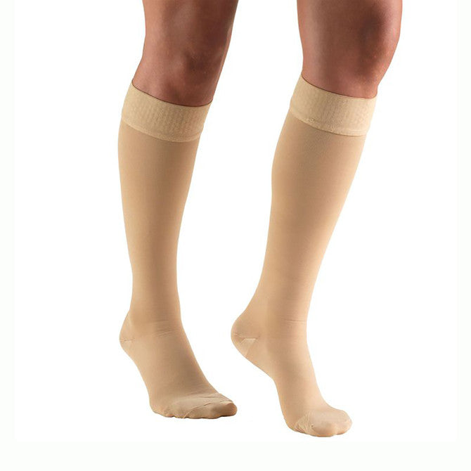 3c539e84a31bd TruForm 8864 Classic Medical Closed Toe Knee Highs w/Sili Dot Band - 20-.  Tap to expand