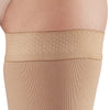 AW Style 292 Luxury Opaque Closed Toe Thigh Highs w/Dot Silicone Band - 20-30 mmHg - Band