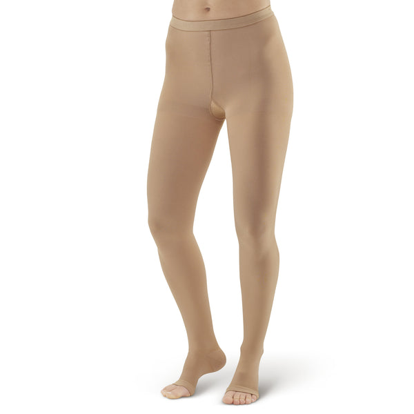 AW Style 293 Medical Support Open Toe Pantyhose - 20-30 mmHg - Beige