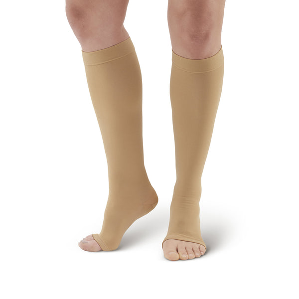 AW Style 322 Anti-Embolism Open Toe Knee High Stockings - 18 mmHg
