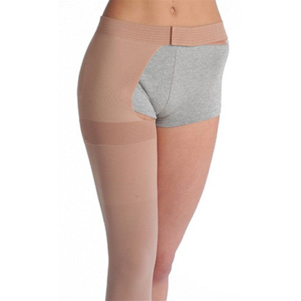 Juzo 3513 Dynamic (Varin) Soft Open Toe Thigh High LFT Waist Attach. 40-50 mmHg