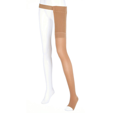 Medi Plus Open Toe Thigh Highs w/Waist Attachment LFT - 30-40 mmHg