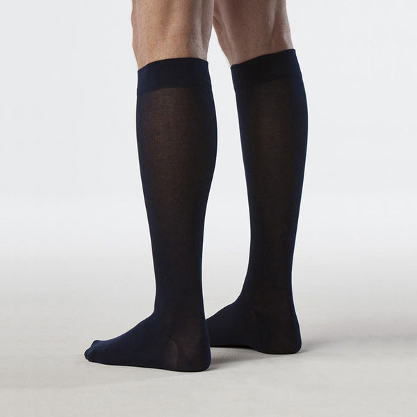 Sigvaris 222 Zurich Collection Men's Sea Island Cotton Knee High Socks - 20-30 mmHg
