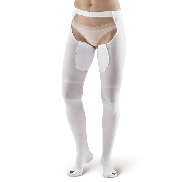 AW Style 402 Anti-Embolism Inspection Toe Thigh w/ Waist Attach. - 18 mmHg