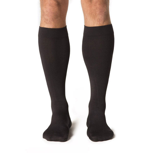Sigvaris 823 Men's Midtown Microfiber Socks - 30-40 mmHg - Black