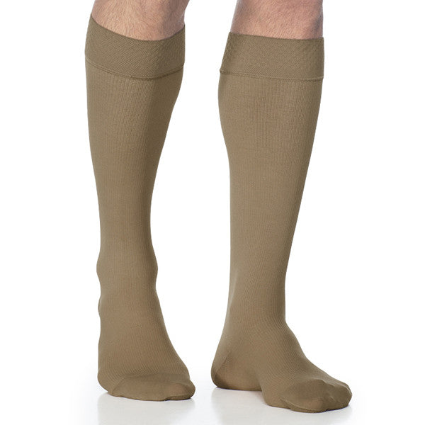 Sigvaris 823 Men's Midtown Microfiber Knee Highs w/ Grip Top - 30-40 mmHg