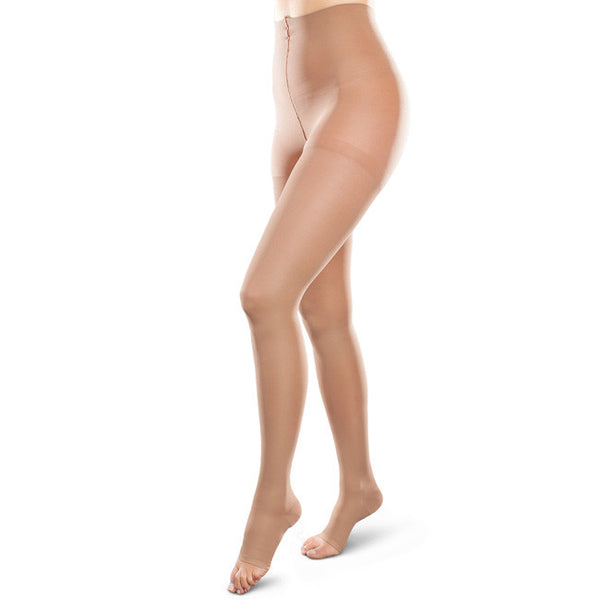 Therafirm EASE Opaque Unisex Open Toe Waist High - 15-20 mmHg - Sand
