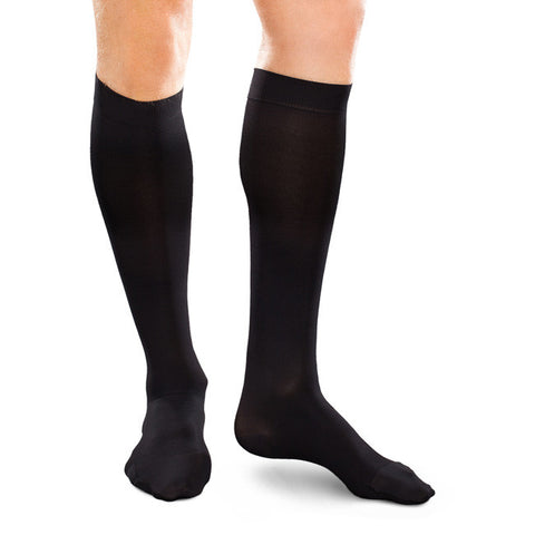 Therafirm EASE Men's Trouser Socks - 15-20 mmHg - Black