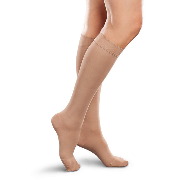 Therafirm EASE Opaque Women's Knee Highs - 20-30 mmHg - Natural