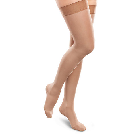 Therafirm EASE Opaque Women's Thigh Highs w/Silicone Band - 30-40 mmHg