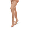 Therafirm EASE Opaque Unisex Open Toe Thigh Highs w/Silicone Band - 20-30 mmHg
