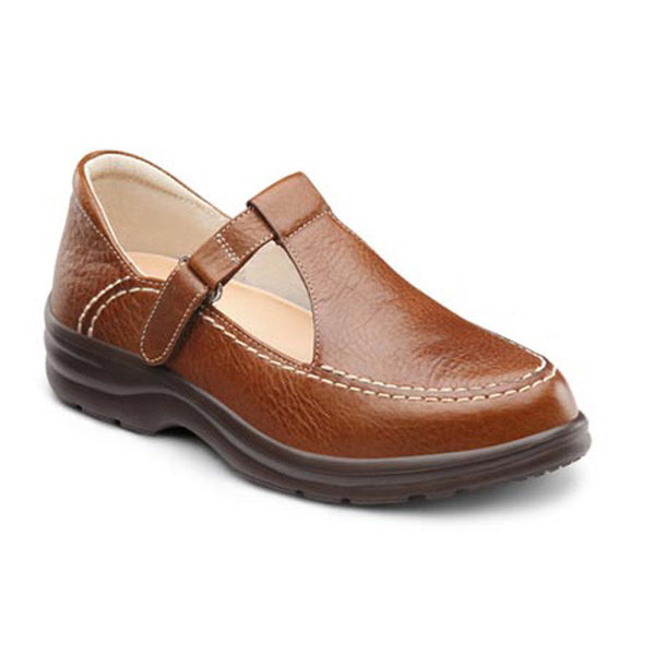 Dr. Comfort Women's Lu Lu Shoes - Chestnut