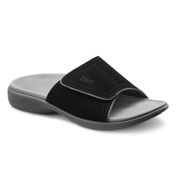 7dc05d4bc Dr. Comfort Women s Kelly Slide Sandals - Black